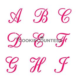 Cookie Countess The Cookie Countess Stencil (Alphabet Script Set)