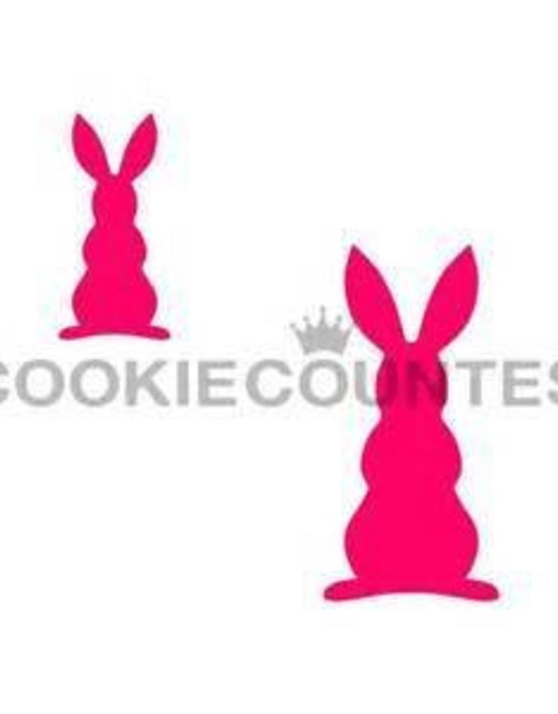 Cookie Countess The Cookie Countess Stencil (Bunny Silhouett -2 Sizes)