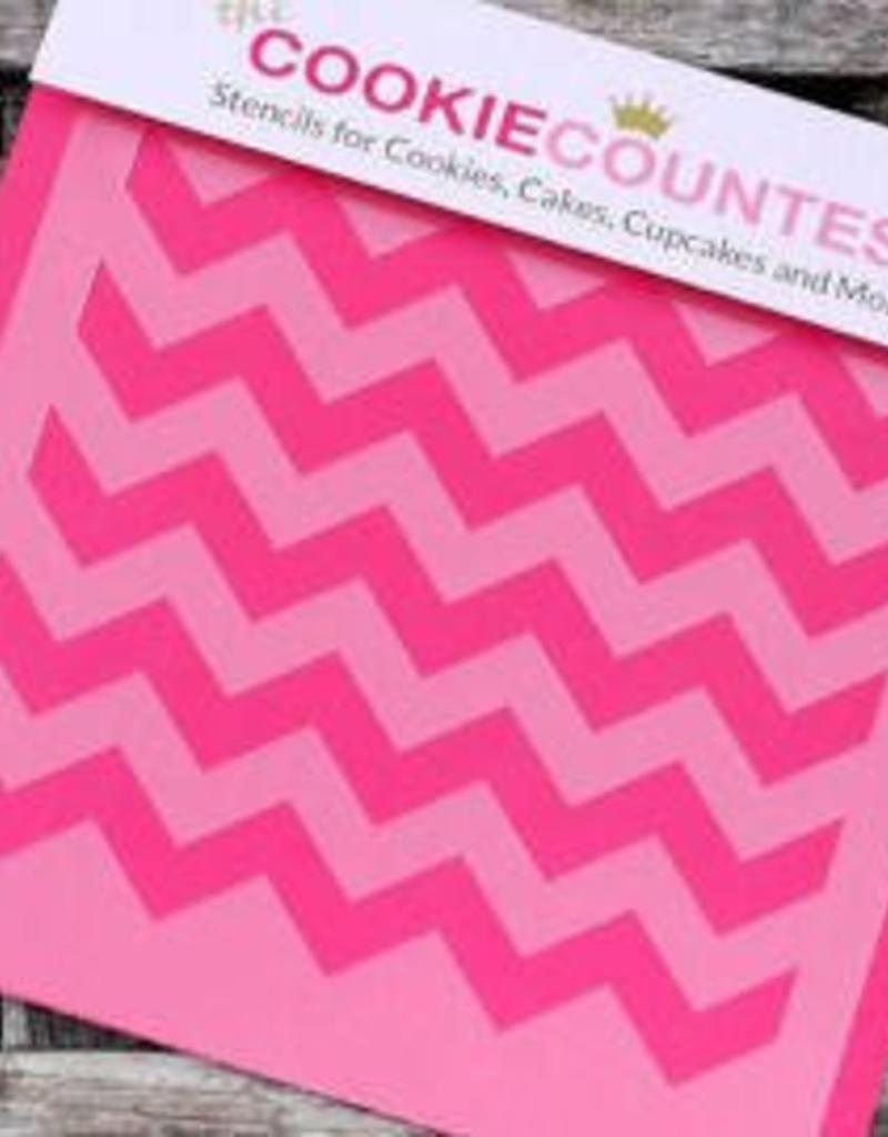 Cookie Countess The Cookie Countess Stencil (Chevron)