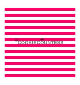 Cookie Countess The Cookie Countess Stencil (Narrow Stripe)