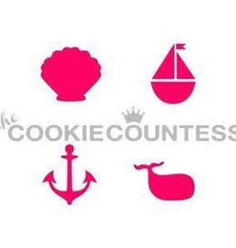 Cookie Countess The Cookie Countess Stencil (Nautical 4-some)