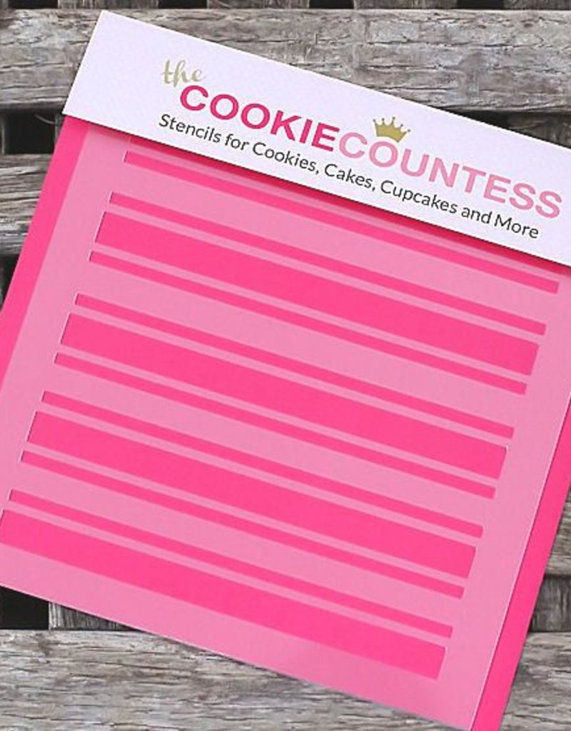 Cookie Countess The Cookie Countess Stencil (Preppy Stripes )