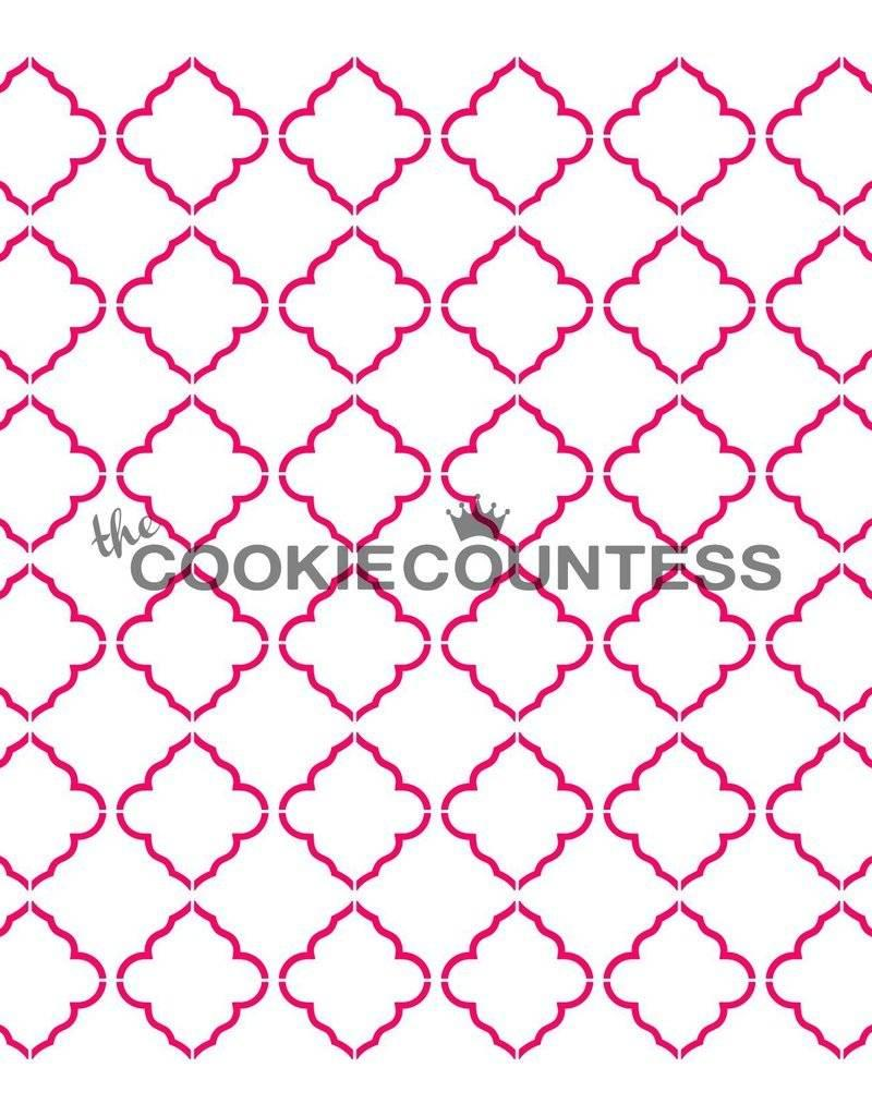 236 The Cookie Countess Stencil (Quatrefoil)