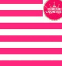 236 The Cookie Countess Stencil (Wide Stripes)