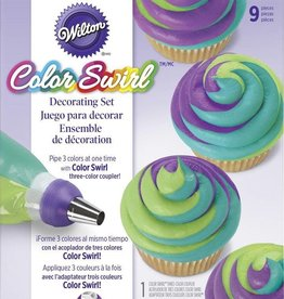TRI COLOR DECORATING SET 9PC