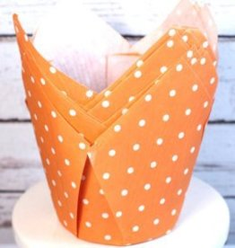 Tulip Baking Cups (Orange Dot)