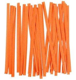 Uline Twist Ties (Orange)