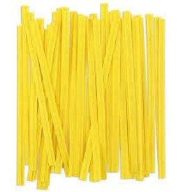 Staples Twist Ties (Yellow)