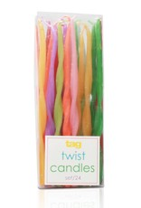 tagltd Candles (Assorted Twisted Tapers) set of 24