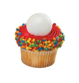 Deco Pack Volleyball Cupcake Rings