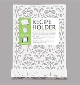 Brownlow Gifts White Metal Recipe Holder