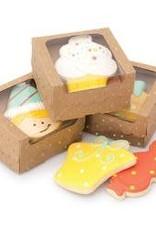 American Crafts Sweet Sugarbelle Single Cookie Box (Kraft/Gold Dot) 4ct