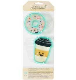 American Crafts Sweet Sugarbelle Cookie Cutter Set (Coffee&Donut)