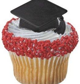 Decopac Grad Cap Rings Black