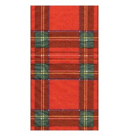 Caspari Royal Plaid Guest Towel (15 ct)