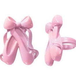 Deco Pack Ballet Slippers Cupcake Rings(12/pkg)