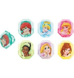 Decopac Disney Princess Gemstone Cupcake Rings (12/pkg)