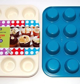Casa Ware Muffin Pan 12 Cup (Blue)