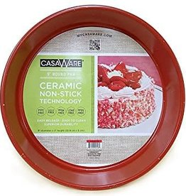 "Casa Ware Round Baking Pan 9"" (Red Granite)"