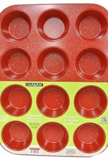 Casa Ware Muffin Pan 12 cup (Red Granite)