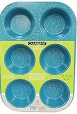 Casa Ware Muffin Pan 6 Cup (Blue Granite)