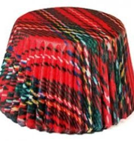 Viking Jumbo Baking Cups - Christmas Plaid/Mary (1000 ct)