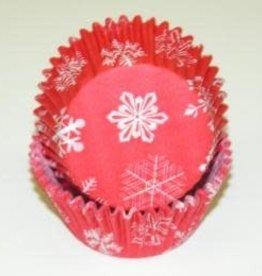 Viking Snowflake Red Baking Cups (25-35ct)