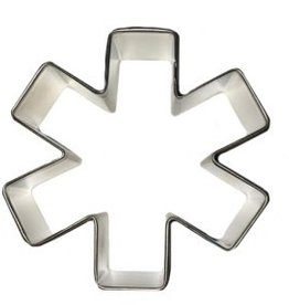 R and M Asterisk/Medical Symbol Cookie Cutter 3""