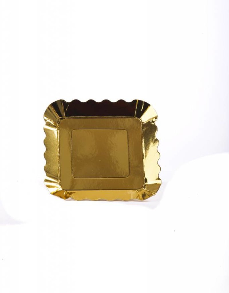 Simply Baked Appetizer Plates, Small(Gold Metallic) 12pk