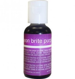 Neon Brite Purple Chefmaster Liqua-gel - 3/4 oz