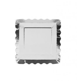 Simply Baked Appetizer Plates, Large (Silver Metallic) 12pk