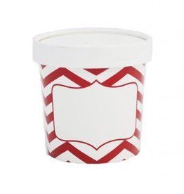 Simply Baked Soup Cups, xsmall (Scarlet Chevron) 3pk