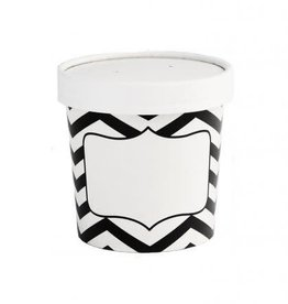 Simply Baked Soup Cups, Xsmall (Black Chevron) 3pk