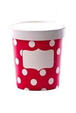 Soup Cups, Small (Scarlet Dot) 3pk
