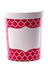 Simply Baked Soup Cups, Large (Scarlet Quadrafoil) 3pk