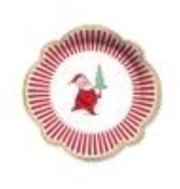 CR Gibson Silly Santa Lunch/Dessert Plates, set of 8