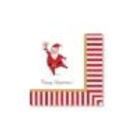 CR Gibson Silly Santa Lunch Napkins, set of 20