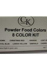 CK POWDER FOOD COLORING 8-COLOR KIT