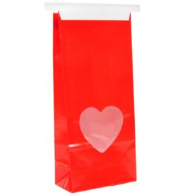 SampleHouse and CandleShop Red Bag with Heart Window