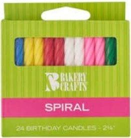 Decopac Spiral Candles (Asst.)