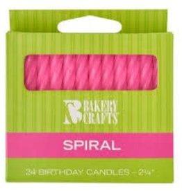 Decopac Spiral Candles (Pink)