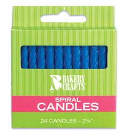 Decopac Spiral Candles (Blue)