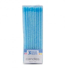 Decopac Slim Glitter Candles (Blue)
