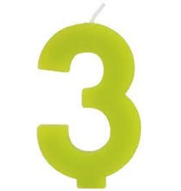"Bakery Crafts Block Candle ""3"""