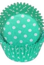 CK Green Polka Dot Baking Cups