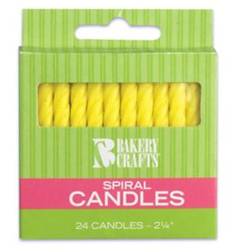 Decopac Spiral Candles (yellow)
