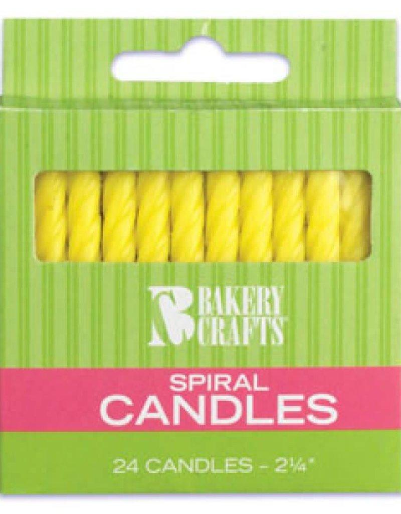 Decopac Spiral Candles (yellow)
