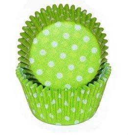 CK Green (Lime) Polka Dot Baking Cups