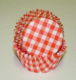 CK Orange Gingham Baking Cups