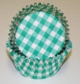 CK Green Gingham Baking Cups